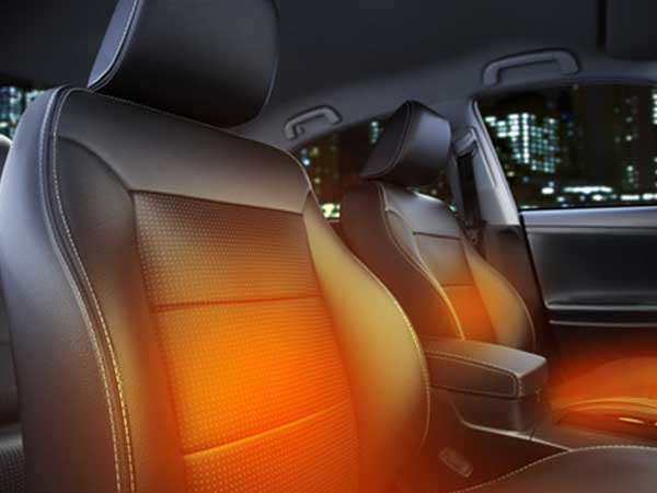 Heated car seat