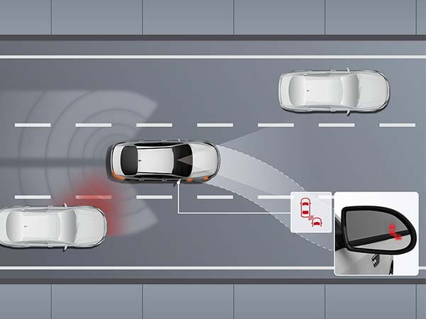 increase safety with Blind Spot system